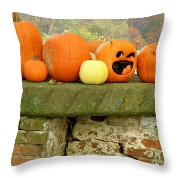 Jack-0-lanterns Throw Pillow by Lainie Wrightson