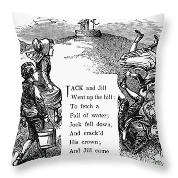 Jack And Jill Throw Pillow by Granger