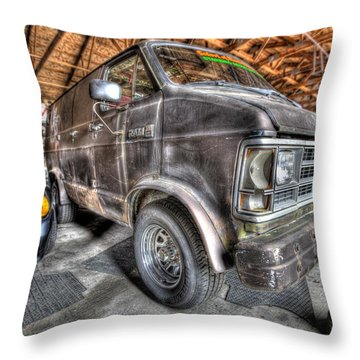 Jack Black's School Of Rock Van Throw Pillow by Nicholas  Grunas