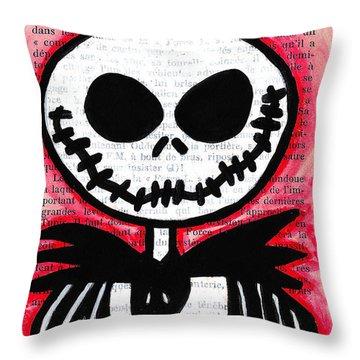 Jack Skellington Throw Pillow by Jera Sky