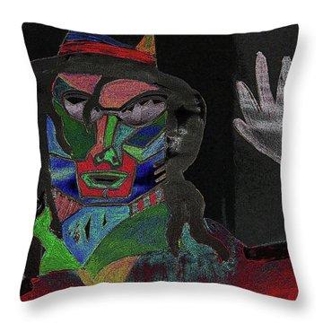 Jacko Throw Pillow by Karen Elzinga