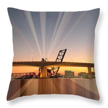 Jacksonville Rays Throw Pillow by Farol Tomson