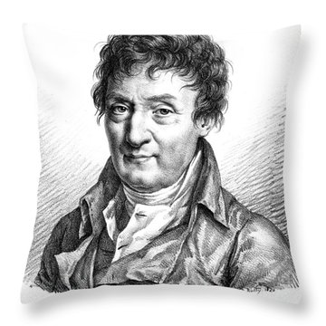 Jacques Charles, French Balloonist Throw Pillow by Photo Researchers