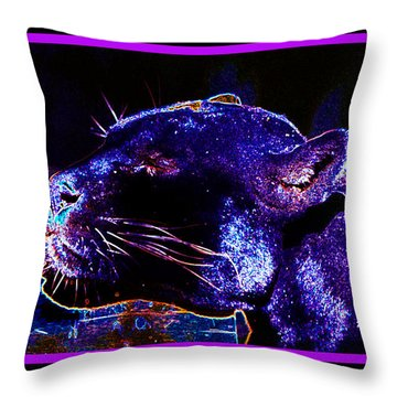 Jaguar Dreaming Your Tomorrow Throw Pillow by Susanne Still