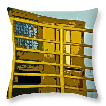 Jail Cell Throw Pillow by Gwyn Newcombe