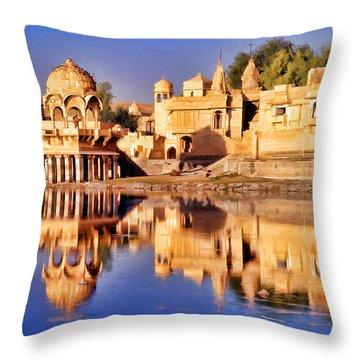 Jaisalmer Rajasthan Throw Pillow