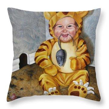James-a-cat Throw Pillow