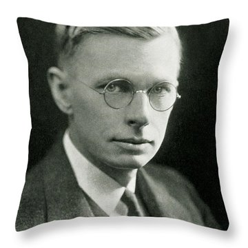 James B. Conant, American Chemist Throw Pillow by Science Source