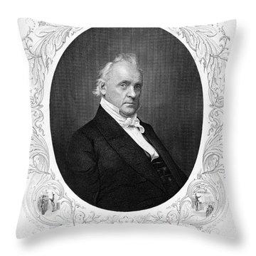 James Buchanan (1791-1968) Throw Pillow by Granger