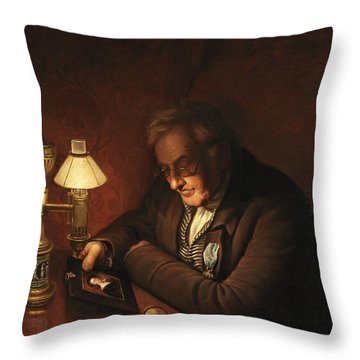 James Peale Throw Pillow by Charles Willson Peale
