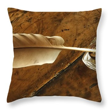 Jane Austen's Pen Throw Pillow