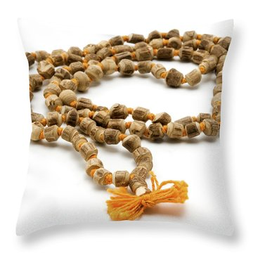 Japa Mala Throw Pillow