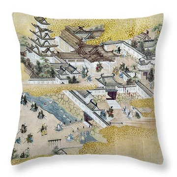 Japan: Castle, C1600 Throw Pillow