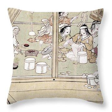 Japan: Childbirth, 1329 Throw Pillow