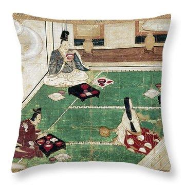 Japan: Eating Rice Throw Pillow