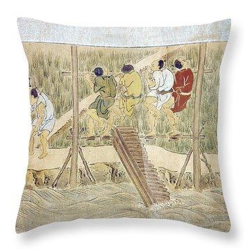 Japan: Irrigation, C1575 Throw Pillow