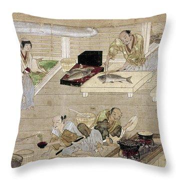 Japan: Kitchen, C1375 Throw Pillow