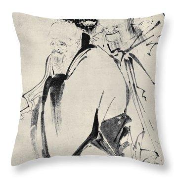 Japan: Old Men, C1425 Throw Pillow