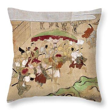Japan: Peasants, C1575 Throw Pillow