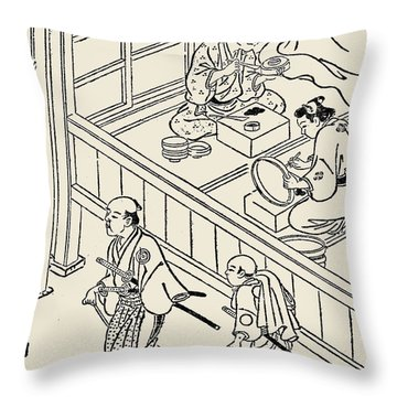 Japan: Samurai, 1700 Throw Pillow by Granger