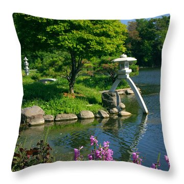 Throw Pillow featuring the photograph Japanese Garden by Cindy Haggerty