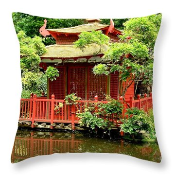 Throw Pillow featuring the photograph Japanese Garden by Katy Mei