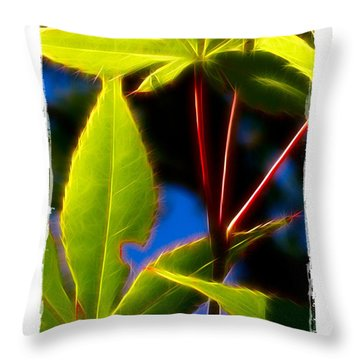 Japanese Maple Leaves Throw Pillow by Judi Bagwell