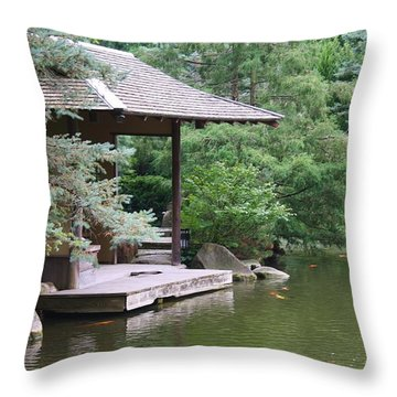 Japanese Tea House Throw Pillow by Bruce Bley