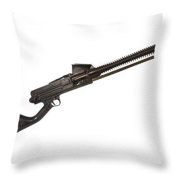 Japanese Type 11 Light Machine Gun Throw Pillow by Andrew Chittock