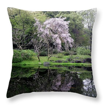 Japan's Imperial Garden Throw Pillow