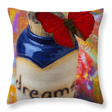 Jar Of Dreams Throw Pillow by Garry Gay