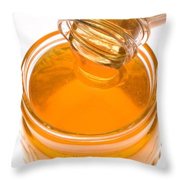 Jar Of Honey Throw Pillow