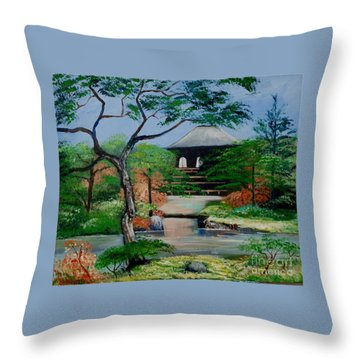 Jardin Japonais  Throw Pillow