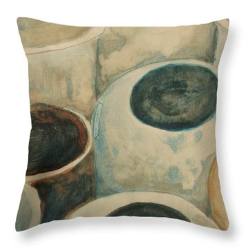 Jars Throw Pillow by Diane montana Jansson