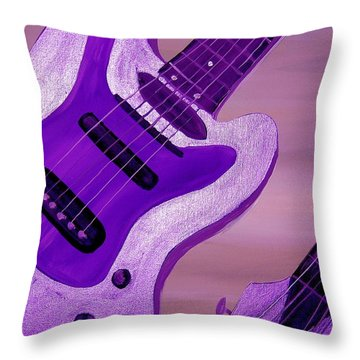 Jazz Five Throw Pillow by Mark Moore
