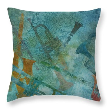 Jazz Improvisation One Throw Pillow