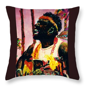 Jazz Musician Throw Pillow