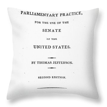 Jefferson: Title Page, 1810 Throw Pillow by Granger