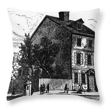 Jeffersons House, 1776 Throw Pillow by Granger