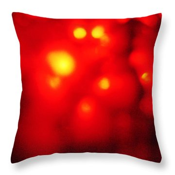 Throw Pillow featuring the photograph Jello Bubbles by Lenny Carter