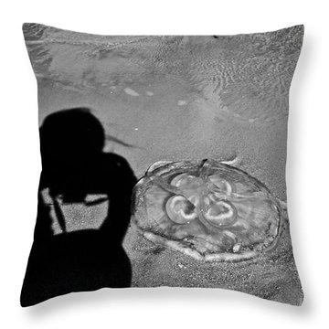 Jelly Capture Throw Pillow by Betsy Knapp