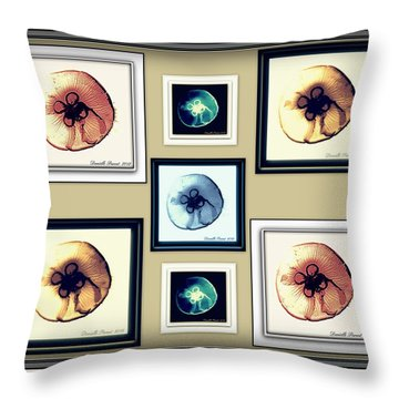 Throw Pillow featuring the photograph Jellyfish Bonanza by Danielle  Parent