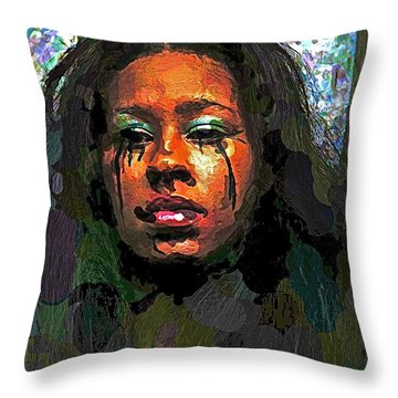 Throw Pillow featuring the photograph Jemai by Alice Gipson