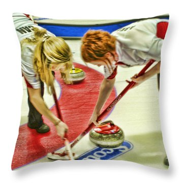 Jennifer And Dawn Throw Pillow by Lawrence Christopher
