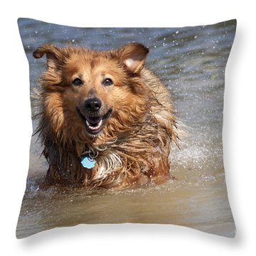 Jesse Throw Pillow by Jeannette Hunt
