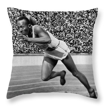 Jesse Owens (1913-1980) Throw Pillow by Granger