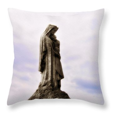 Jesus And Mary Throw Pillow by Bill Cannon