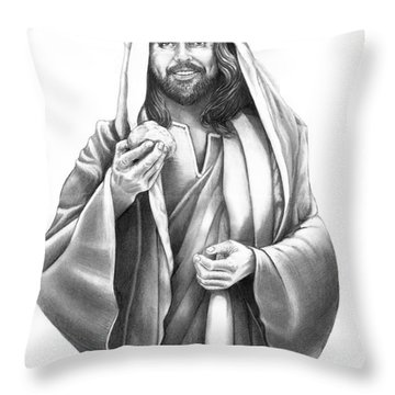 Jesus Christ Throw Pillow by Murphy Elliott