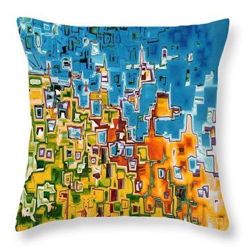 Jesus Christ The Image Of God Throw Pillow by Mark Lawrence