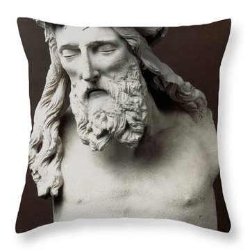 Jesus: Crucifixion Throw Pillow by Granger